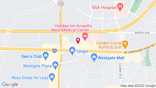 My Place Hotel - Amarillo West/ Medical Center, TX Map