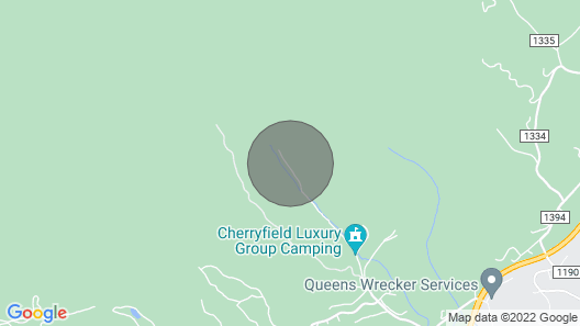Cherryfield Luxury Group Campground IN Brevard NC Map