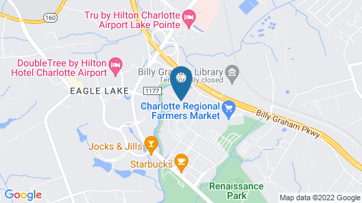 Charlotte Airport Hotel Map