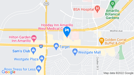 Holiday Inn Amarillo West Medical Center, an IHG Hotel Map