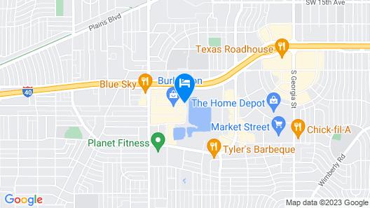 Comfort Suites Amarillo Map