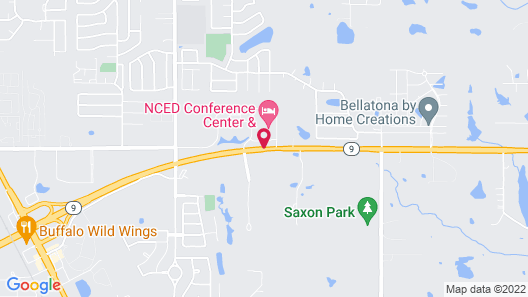 NCED Conference Center & Hotel Map
