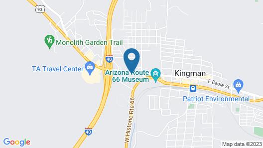 Motel 6 Kingman, AZ - Route 66 West Map