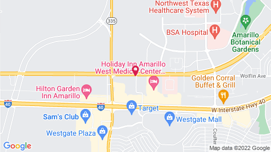 Extended Stay America Amarillo - West Map