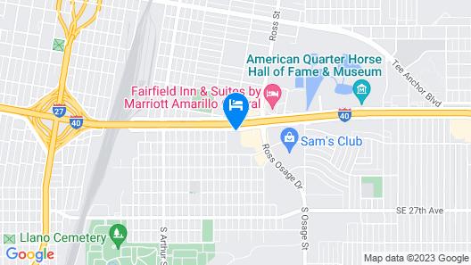 Baymont by Wyndham Amarillo East Map