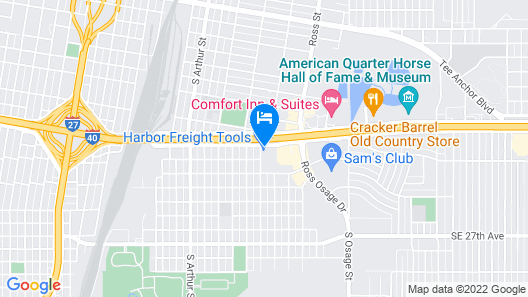 OYO Hotel Amarillo Downtown Map