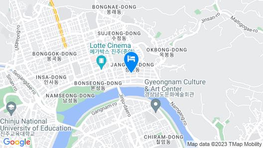 Queens Motel Jinju Map