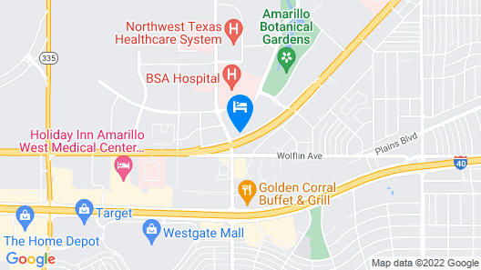 Best Western Plus Medical Center Map