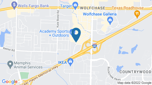 Hyatt Place Memphis/Wolfchase Galleria Map