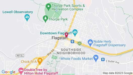 Rodeway Inn Flagstaff-Downtown Map