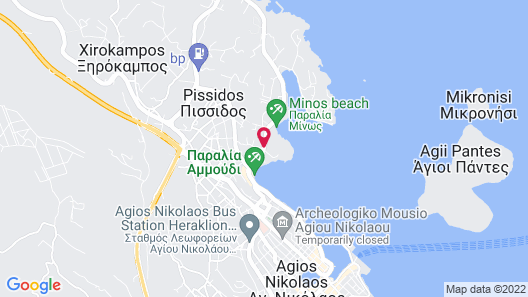 Minos Beach art hotel Map