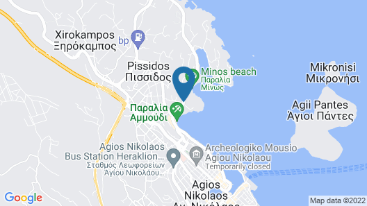 Minos Beach art hotel Map