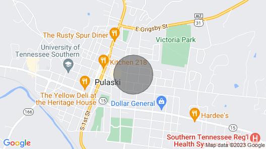 Casa Doble , Pulaski, Tn Map