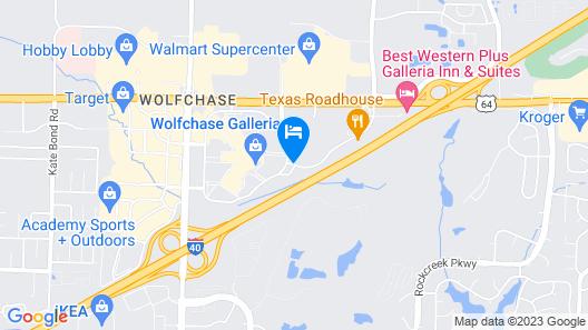 Springhill Suites Memphis East / Galleria Map