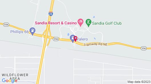 Sandia Resort And Casino Map