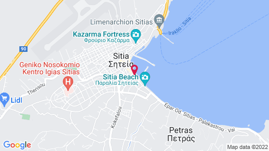 Hotel Flisvos Map