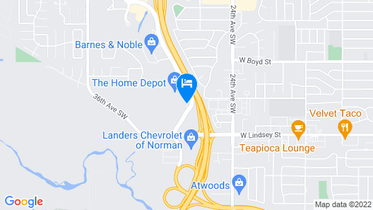 La Quinta Inn & Suites by Wyndham Oklahoma City Norman Map