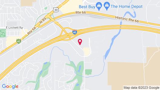 Hampton Inn & Suites Flagstaff East Map