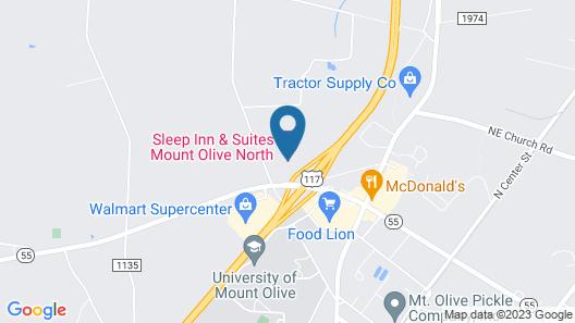 Sleep Inn & Suites Mount Olive North Map