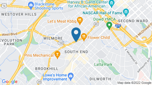 Holiday Inn Express & Suites Charlotte - South End, an IHG Hotel Map
