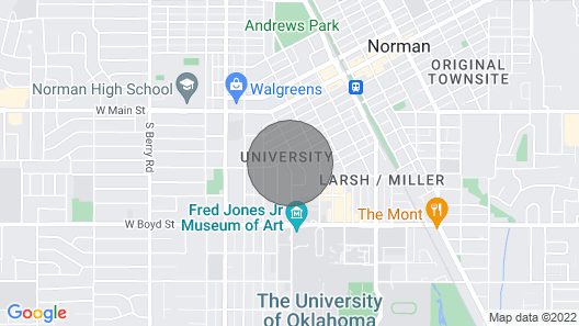 Casa de Alegría. Beautiful Home in Norman. Two Blocks From OU Campus Map