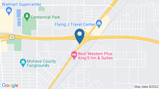 Hotel Kingman AZ - Historic Rte 66 Map