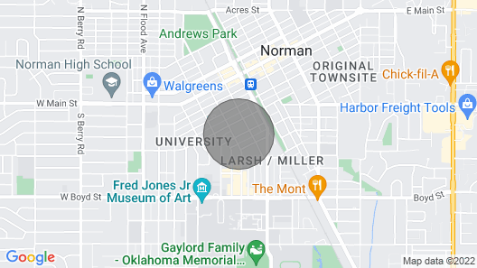 Norman Guesthouse Campus Corner Comfort  Map