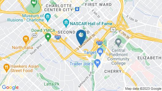 Sheraton Charlotte Hotel Map