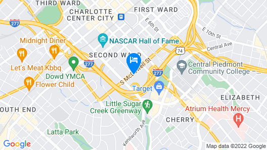 Le Meridien Charlotte Map