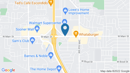Super 8 by Wyndham Norman Map