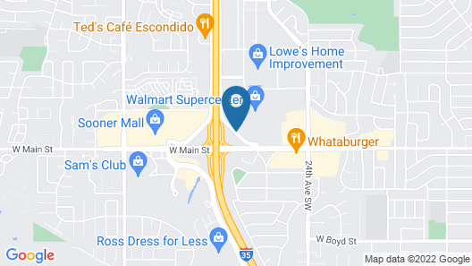 Travelodge Inn & Suites by Wyndham Norman Map