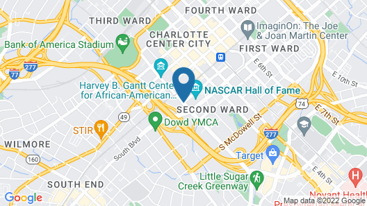 Heaven in Charlotte Furnished Apartments Map