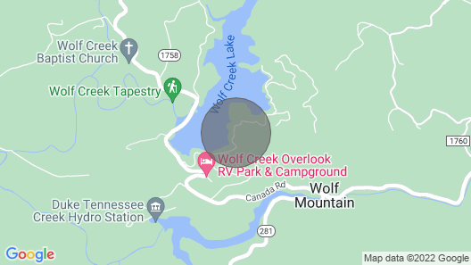 Cozy Mtn Lakefront Cabin on Wolf Lake W/pontoon Boat/kayaks/hot Tub/firepit Map
