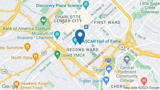 Hilton Garden Inn Charlotte Uptown Map