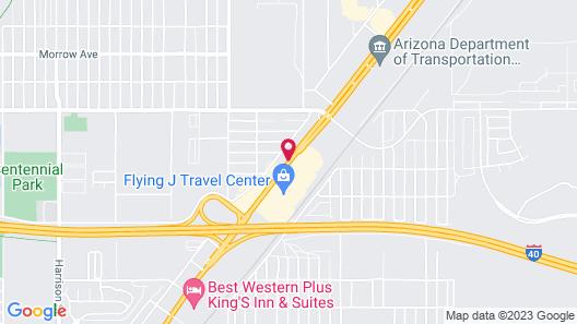 Motel 6 Kingman, AZ - Route 66 East Map