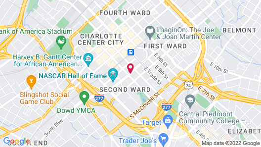 Hyatt Place Charlotte Downtown Map