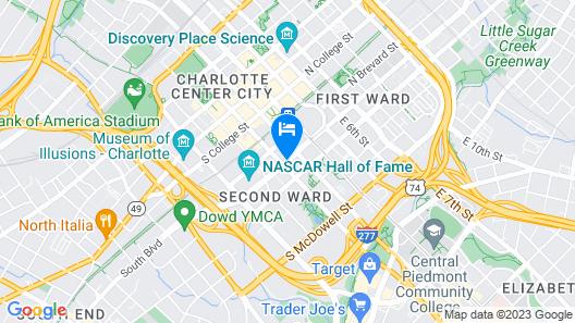 Hyatt Place Charlotte Downtown Map
