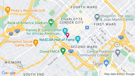 The Westin Charlotte Map