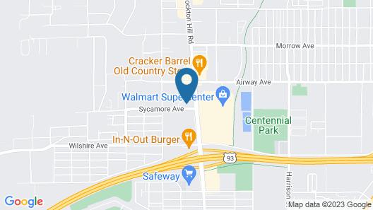 Hampton Inn & Suites Kingman, AZ Map
