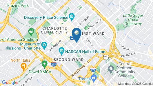 HYATT house Charlotte/Center City Map