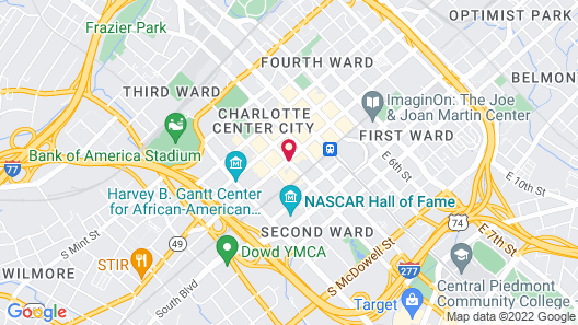 Hilton Charlotte Uptown Map