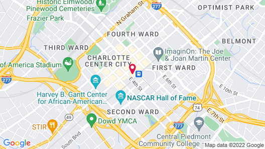 AC by Marriott Charlotte Map
