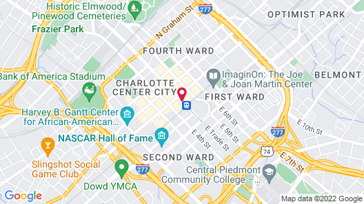 Residence Inn Charlotte City Center Map