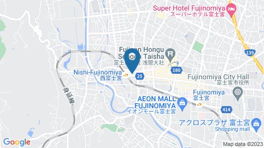 Hotel Crown Hills Fujinomiya  Map