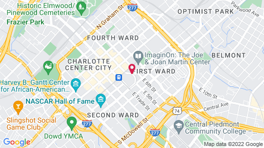 SpringHill Suites by Marriott Charlotte Uptown Map