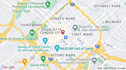 Aloft Charlotte City Center Map