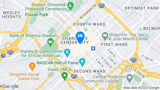 Courtyard by Marriott Charlotte City Center Map