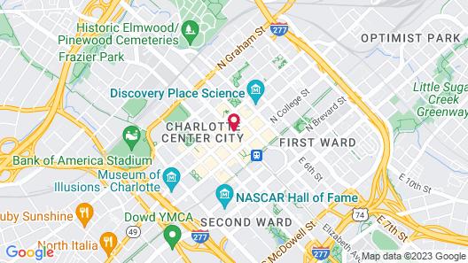 Charlotte Marriott City Center Map