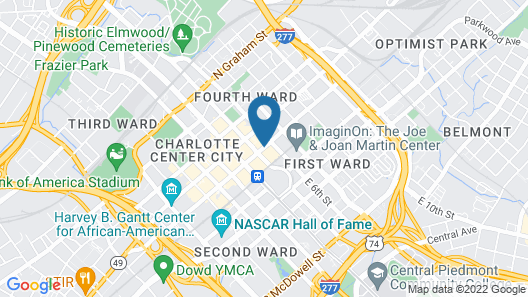 Holiday Inn Charlotte Center City, an IHG Hotel Map