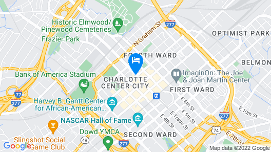Grand Bohemian Hotel Charlotte,  Autograph Collection Map